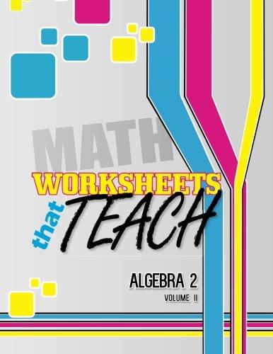 Amazon.com: Worksheets That Teach: Algebra 2, Volume II (Volume 2 ...