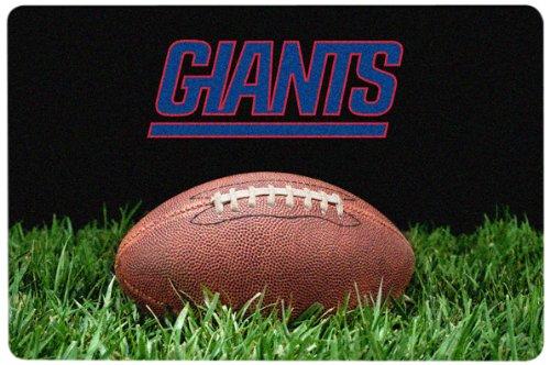 NFL New York Giants Classic Football Pet Bowl Mat, Large (Nfl Team Pet Mat)