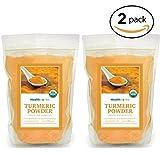Healthworks Turmeric Root Powder (Curcumin) Organic, 4lb (2 2lb Packs)