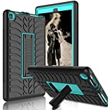 Kindle Fire 8 2018 Case, Kindle Fire 8 2017 Case, Zenic Three Layer Heavy Duty Shockproof Full-body Protective Hybrid Case With Kickstand for Kindle Fire 8 2018 Release/All-New Fire HD 8(Blue/Black-1)