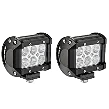 Led Pods, Senlips 2x18W Cree Leds Flood Light Led Fog Lights Offroad Led Light Bar IP 67 Waterproof for Off-road Vehicle, ATV, SUV, UTV, 4WD, Jeep, Boat- Black