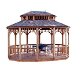 Handy Home Products Monterey Tight Knot Cedar Oval Gazebo, 10 by 14-Feet