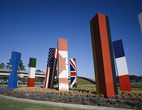 Houston, TX Photo - Flag art, Bush Airport, Houston, Texas - Carol - Pictures Airport Houston