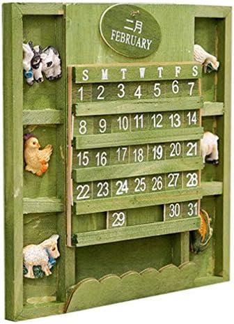 ABOOFAN Calendari Dell'avvento in Legno Natale Calendario Conto alla Rovescia 24 Giorni Decorazione Presepe per Progetti Artistici Fai da Te Regalo di Festa (Verde)