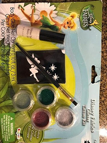 Tinkerbell Glitter Tattoo Kit (Disney Faries Tinkerbell Glitter Tattoo Kit)