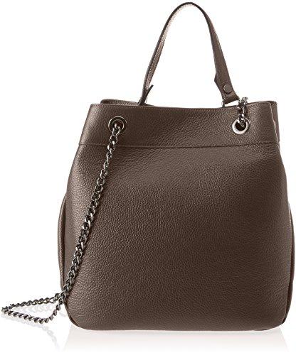 Chicca Borse 8857 - Bolso de hombro Mujer Marrón (Dark Brown Dark Brown)