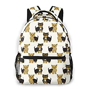 Amazon.com: School Backpack Yorkshire Terrier Cute Yorkie