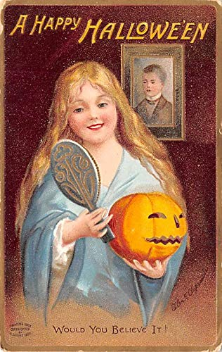 Halloween Post Card Old Vintage Antique Ellen Clapsaddle Made In Germany 1910 -