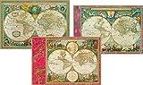 Entertaining with Caspari World Maps Blank Notecards, Set of 8