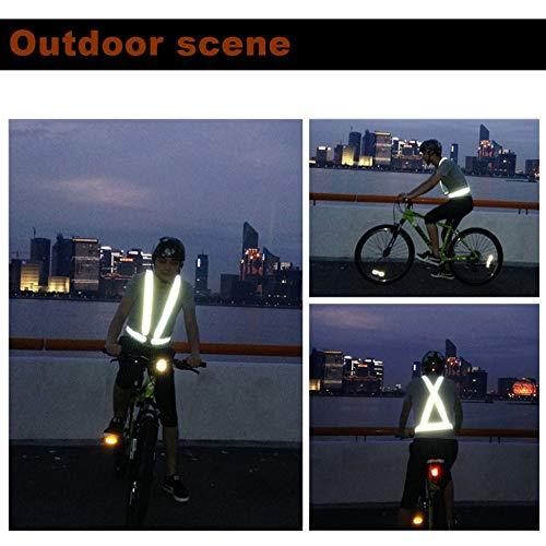 Migvela Transpirable Tr/áfico Trabajo Nocturno Seguridad Correr Ciclismo Seguridad Chaleco Reflectante Chaqueta de Seguridad Reflectante de Alta Visibilidad