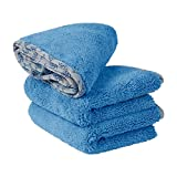 auto detail microfiber towel - Buff Detail Automotive Microfiber Towel 400 GSM | All-Purpose Auto Detailing - Wax, Buff, Polish, Wash, Dry | Soft Satin Piped Edges | Lint Free | 16