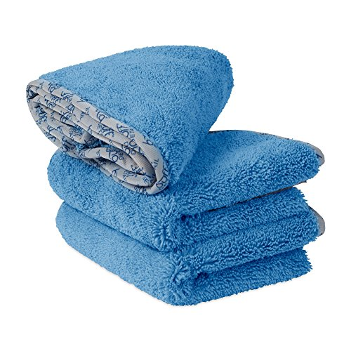 Buff Detail Microfiber Car Towels | 400 GSM | 80/20 Blend | Tagless | Soft Satin Piped Edges | All-Purpose Auto Detailing - Wax, Buff, Polish, Wash, Dry | 16