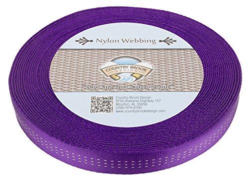 Country Brook Design 1 Inch Purple Climbing Spec Tubular Nylon Webbing, 10 Yards ()