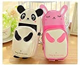 Creative Super Rabbit Or Panda Pen Bag student Stationery Bags Pencil Case Phone Bag,Cute, Durable, Easy to carry. (panda)