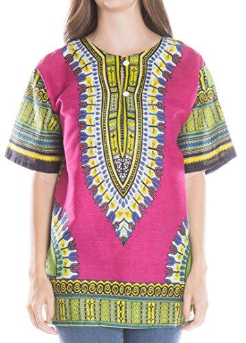 ragstock-womens-traditional-african-print-dashiki-fuchsia-large