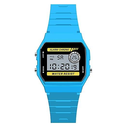 Moda Reloj Infantil de Lujo analógico Digital Deportivo lED a Prueba de Agua Luminoso Traje para niños, niñas, Relojes de Pulsera de Colores, ...