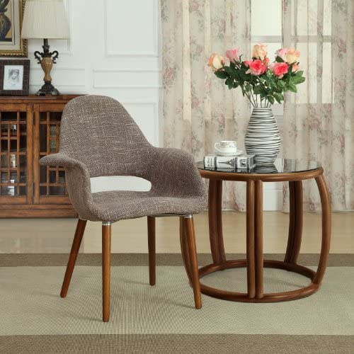 Modway Aegis Upholstered Dining Armchair, Brown