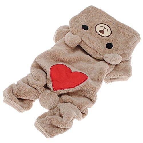 Pet Puppy Dog Love U Red Heart Bear Warm - Puppy Love Heart Shopping Results
