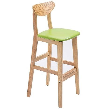 Brilliant Amazon Com Mxk Solid Wood High Chair Creative Bar Chair Beatyapartments Chair Design Images Beatyapartmentscom