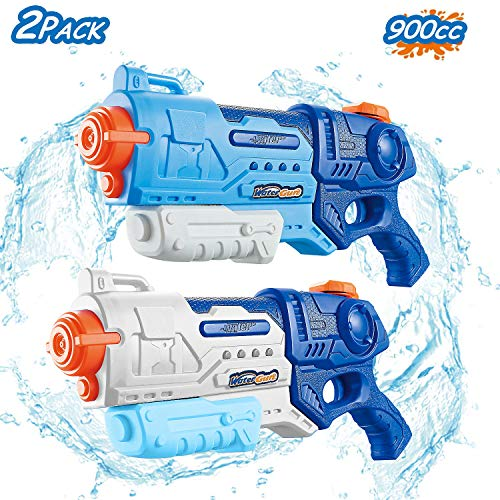 FREE TO FLY Water Gun for Kids, - 2 Pack 900cc High Capacity Blaster Squirt for Summer Swimming Pool & Beach Party Favors Water Outdoor Fighting Toy for Kids Adults Boys and Girls