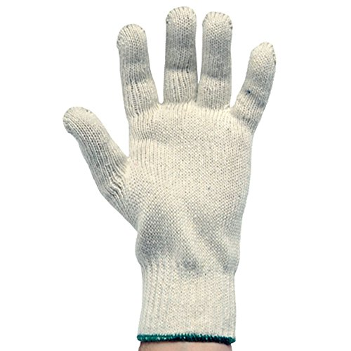 UltraSource Cotton/Polyester Work Gloves, Elastic Cuff, Medium Weight (Pack of 12) ()