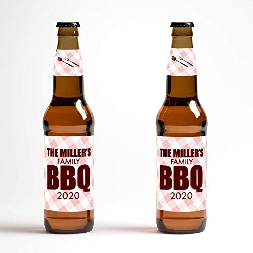picture regarding Printable Beer Bottle Labels referred to as Custom made Beer Bottle Labels - BBQ Beer -