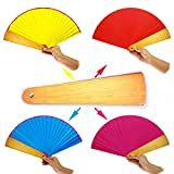 OUERMAMA Magic Folding Fan Trick Funny Toys Random Four Color Changing Professional Magician Close-up Street Stage Magic Props