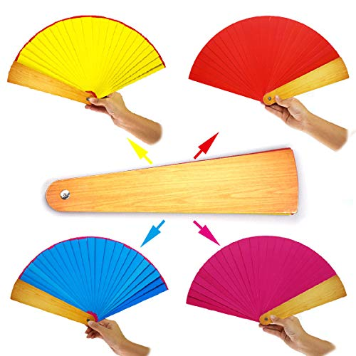 OUERMAMA Magic Folding Fan Trick Funny Toys Random Four Color Changing Professional Magician Close-up Street Stage Magic Props by OUERMAMA