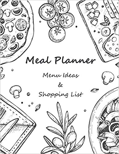 Menu Ideas and Shopping Lists 53 Weeks For Track and Plan Your Meals Prep Foods Calendars Planning Logs What to Eat Pad Weekly Planning Grocery List Records Journal Diary Notebook Meal Planner