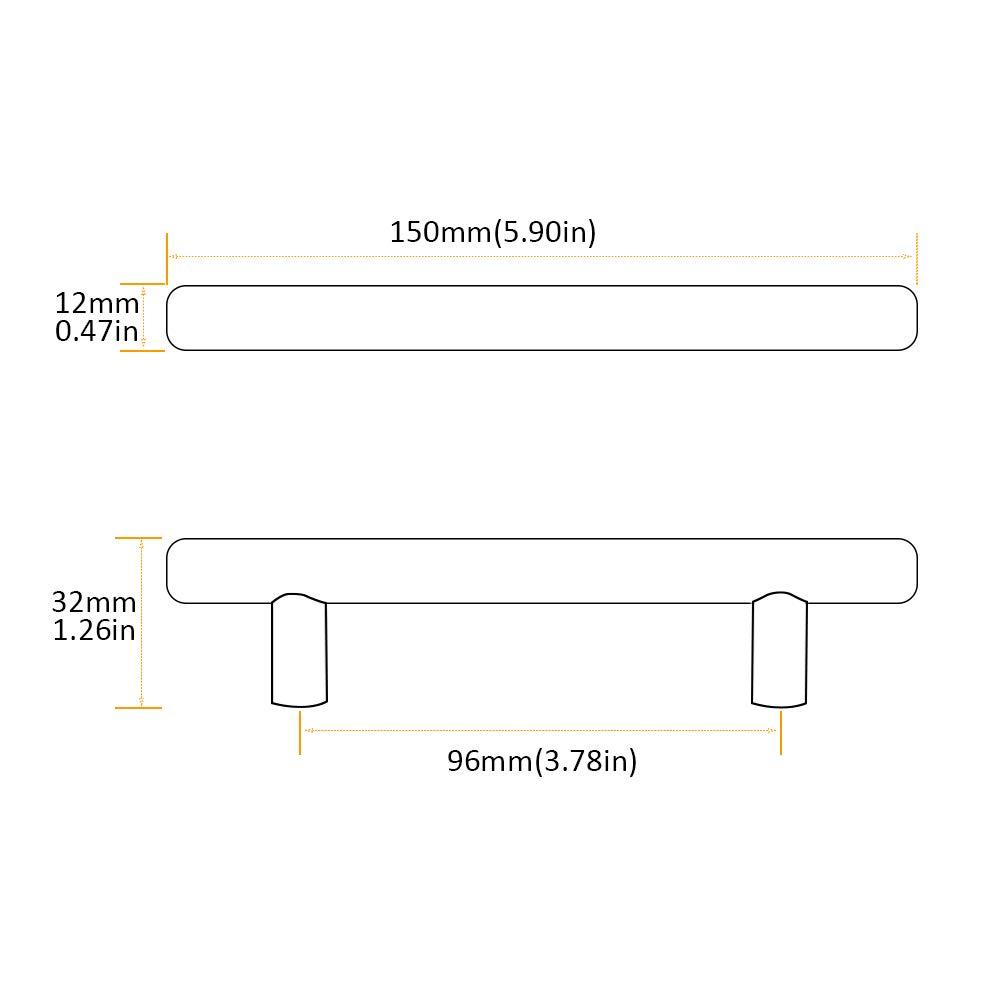 Bohrlochabst geb/ürstet Edelstahl M/öbelgriffe Stangengriff Relinggriffe Edelstahlrohr 96 mm Lochmitten // 150 mm lang 5 x