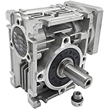 NMRV-030 Worm Gear Speed Reducer NEMA23 Stepper Gearbox Ratio 80:1 for Stepper Motors
