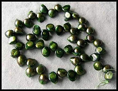 - Rainbow Green Pearl Blister Pendant Bead Strand for Jewelry Making 108084