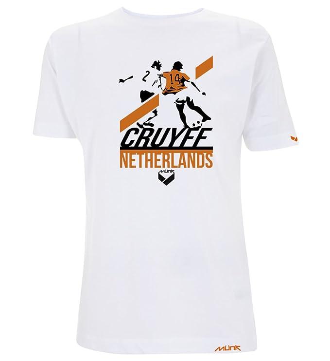 Münk - Johan Cruyff Regate - Camisetas de diseño Retro fútbol Vintage - Muñeco Recortable Gratis: Amazon.es: Ropa y accesorios