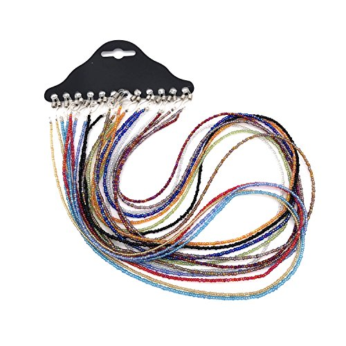 12 pcs Beaded Eyeglass Chain Sunglass Holder Strap Neckstrap Cord Lanyard Rope Necklace