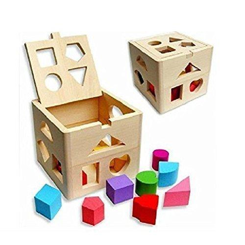 NUOLUXのセットキッズ教育木製ビルディングブロック幼児用おもちゃ   B00ZWJXCFE