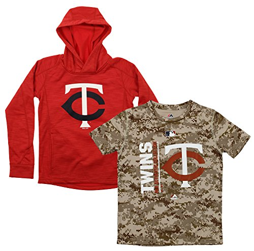 Fleece Minnesota Twins Pullover - Outerstuff MLB Youth Primary Icon Hoodie and Tee Combo, Minnesota Twins Large (14-16)