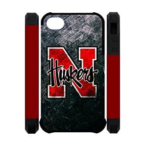 NCAA Nebraska Cornhuskers Huskers iPhone 4 4S Dual-protective Polymer Case Cover at Big-dream