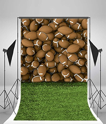 Photography Background Vinly 8x15ft Backdrop Studio Props Green Sports Ground And Rugby...