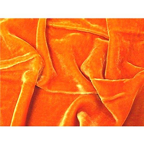 SyFabrics silk velvet fabric 54 inches wide Orange