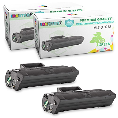 INKUTEN Compatible Toner Cartridge Replacement for Samsung SCX-3405FW MLT-D101S 101S MLT-D101S/XXA (2 Black Toners) Compatible With Samsung ML-2165W, SCX-3400F, SCX-3400FWM, SCX-3405FW, SF-760P Printers
