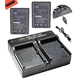 BM Premium 2-Pack Fully Decoded BLN1 Batteries and USB Dual Battery Charger Kit for Olympus Pen F, OM-D E-M1, OM-D E-M5, OM-D E-M5 Mark II, OM-D E-P5 Digital SLR Camera