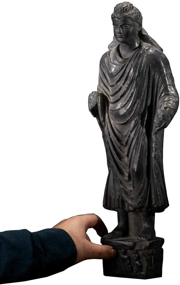 Amazon Com Sdbrkyh Buddha Standing Statue Gandhara Sculpture Buddhism Standing Buddha Greek Buddhist Supplies Decoration Home Kitchen