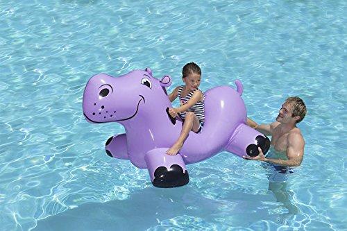 51VUlDZNAsL - Poolmaster Happy Hippo Swimming Pool Float Rider
