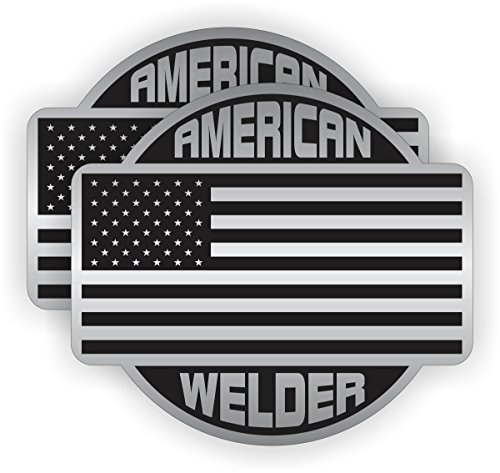 Two (2) Best Seller American Welder | Hard Hat Stickers - USA Union