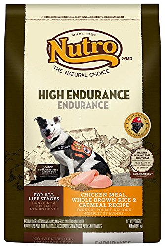 NUTRO High Endurance 30/20 Chicken Meal, Whole Brown Rice and Oatmeal Dog Food, 30 lbs.