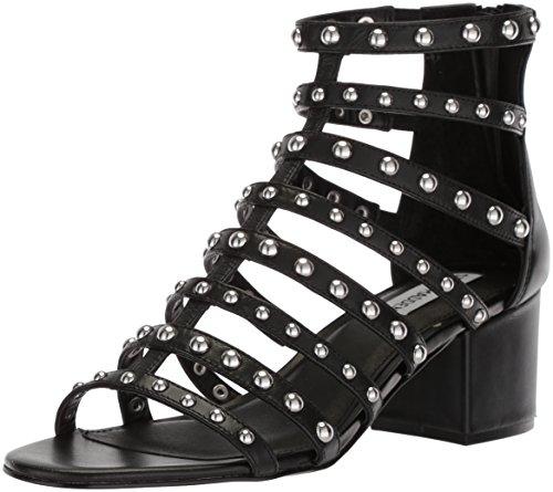 (Steve Madden Women's Mania Heeled Sandal, Black/Multi, 7.5 M US)