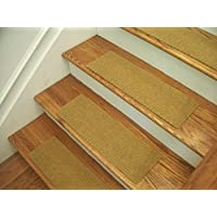 Essential Carpet Stair Treads - Style: Berber - Color: Natural - Size: 24 x 8 - Set of 13