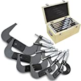 XtremepowerUS 0-6'' Premium Outside Micrometer Machinist Tool Set Frame W/carbide Tips