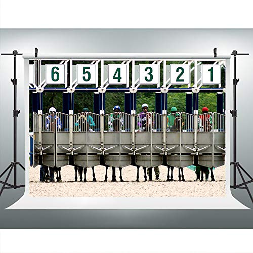 Horse Racing Photography Backdrop for Derby Party, 7x5FT,