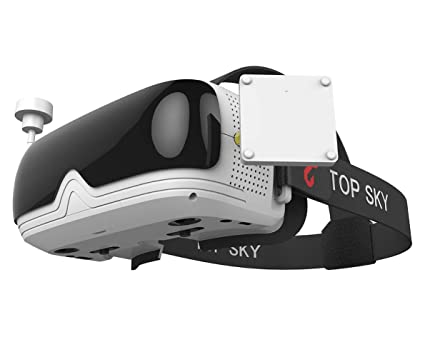 TOPSKY Prime1S FPV Goggles, Headplay Glasses 5 8G 48CH Raceband Dual  Modules DVR Headset, FPV Receiver Kit with Eyepatch for Quadcopter Racing  Drone